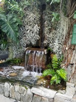 Small waterfall in the silver garden